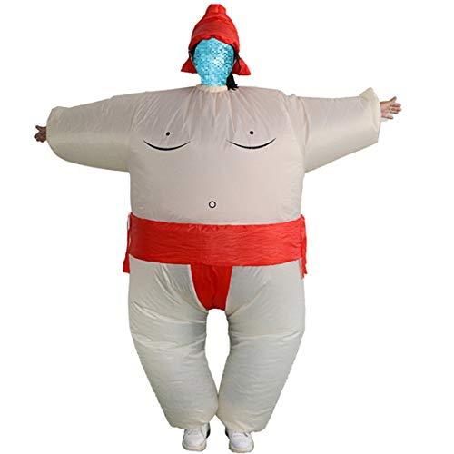 (Footprintes Fan Aufblasbare Sumo Kleid Neuheit Fetter Mann Und Frau Suite Fett Maskierte Anzug Phantasie Blow Up Kleid Wrestler Kostüm)