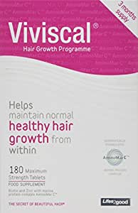 Viviscal Maximum Strength Hair Growth Supplements 3 Month Supply - 180 tabs