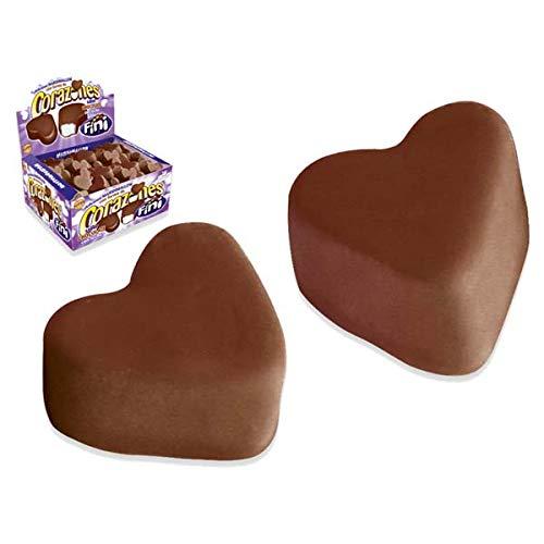 Marshmallow Herzen mit Schokolade 75 Stk für Candybar oder Gastgeschenk. Original Fini