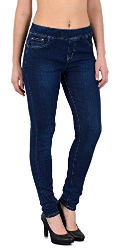 by-tex Damen Jeans Hose Damen Skinny Jeanshose Jeggings mit Gummibund Skinnyjeans bis große Größen J291 Plus Size Skinny Jeans Groß