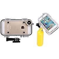 Fone-Stuff GoPro iPhone 6s 6 caso di azione di sport di estremo copertura impermeabile IP68 per tutti gli accessori GoPro con 170 gradi grandangolare obiettivo della fotocamera