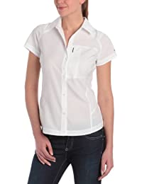Columbia Silver Ridge Ss Blusa, Mujer, Blanco (White), M