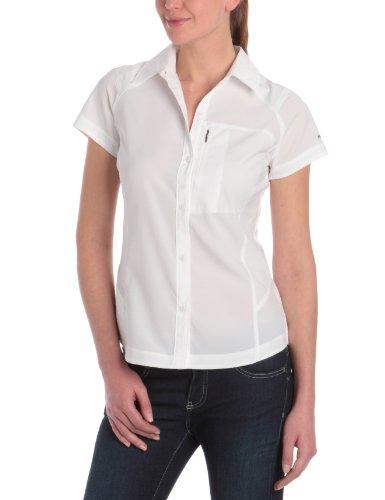 Columbia Kurzarm-Wanderhemd für Damen, Silver Ridge Short Sleeve Shirt, Nylon, weiß, Gr.