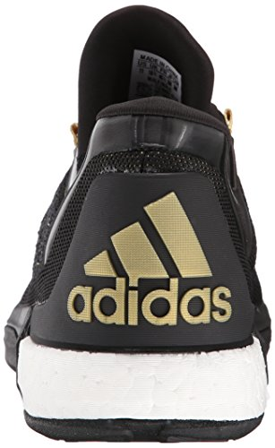 Adidas Performance 2015 Crazylight Boost Primeknit chaussure de basket, Noir / Pourpre royale Plein Black/Gold/Dark Grey