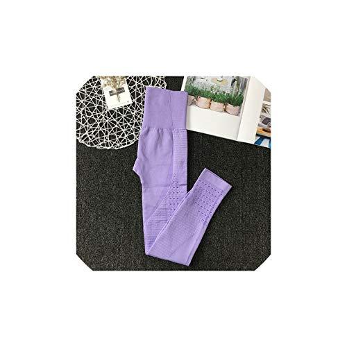 Yoga Pants 16 Styles Energy Seamless Running Yoga Pants High Waist Leggings Push Up Leggings Sport,4037Violet,S