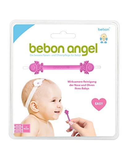 Bebon Angel – der bessere Nasenreiniger und Ohrenreiniger für Babys | Sichtbar wirksamer als Nasensauger/Nasensekretsauger (Pink)