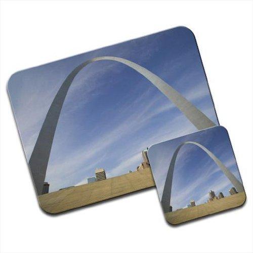 ST LOUIS GATEWAY Arch in Missouri USA Premium Mauspad und Untersetzer Set