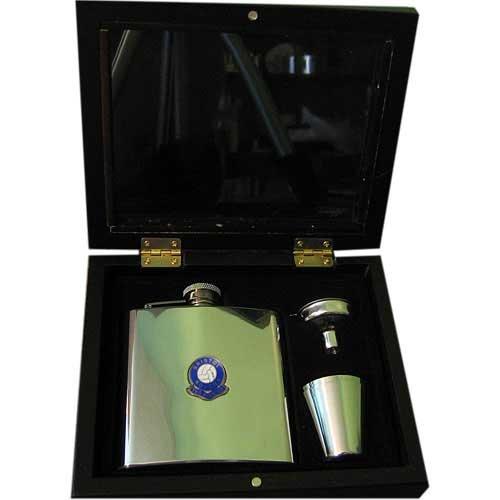 Bristol Rovers 'The Pirates'Football Club Flachmann-Geschenkset, 170 ml -