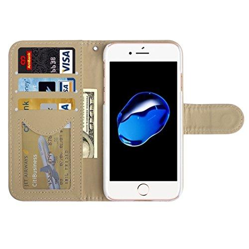 Buona Casa- AA00355 Per iPhone 7 Diamond Lattice Texture Custodia protettiva in cuoio orizzontale a righe con supporto e slot per carte e portafoglio e cornice per foto ( Color : Pink ) Pink