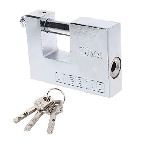 Yaonow Candado con 3 llaves, de acero sólido endurecido, protector in
