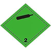 "Etiqueta Adr 30x30cm en adhesivo ""Gases no inflamables no tóxicos"" (clase 2.2) 6 unidades"