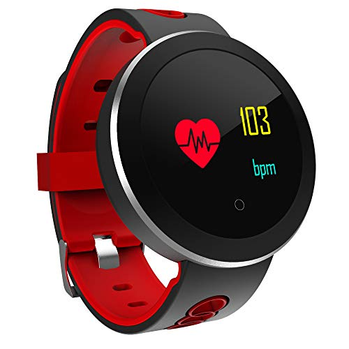 FOUR Smart Watch, Bluetooth Fitness Watch con Cardiofrequenzimetro, Schermo A Colori Fitness Tracker con Smart Notification