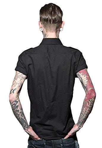 US Shirt Worker chemise à manches courtes travailleur de la chemise homme par ROCK-IT - tailles S-4XL - Couleur Noir Bleu Gris Vert Noir