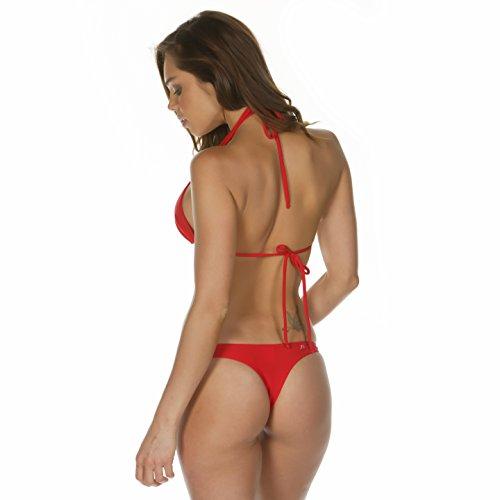KKompany-Set di Bikini a brasiliana, perizoma g_String Tanga da fondo, Reggiseno sportivo Red
