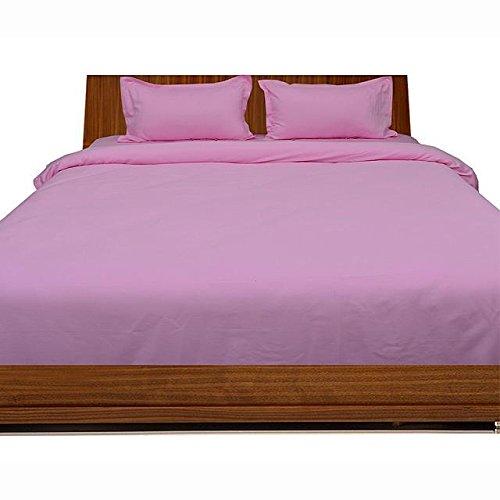 Super Soft 450-thread-count Ägyptische Baumwolle 450-tc flach oder Top Tabelle mit extra Kissen Fall UK King Pink Massive 100% Baumwolle Italienisches Finish -