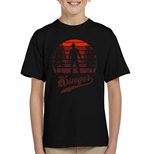 Cloud City 7 Nightmare On Elm Street Freddy Krueger Sunset Kid's T-Shirt