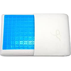 Supportiback® Comfort Therapy Memory Bed Pillow With Heat Dissipating CoolGel, Reversible Sides, Removable Washable Hypoallergenic Cover - Doctor-designed For Neck, Back Pain Prevention & Relief
