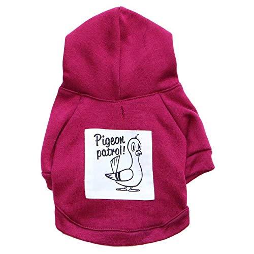 TYJY Hundebekleidung Für Kleine Hund Winter Baumwolle Haustier Mantel Hoodies Outfit Kleidung Für Hund Ente Vogel Welpen Haustier Kleidung
