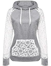 Mujer Blusa sudaderas tops otoño manga larga casual urbano streetwear,Sonnena Sudadera con capucha para