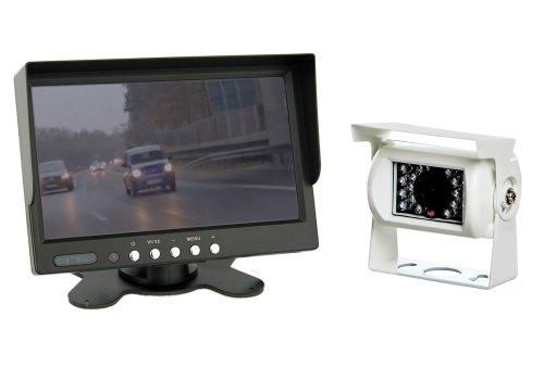 """VSG 7"""" Allround-Rückfahrsystem / Distanzlinien / Bildspiegelung / 12-24 Volt / 120° & IP67 / Ausschaltverzögerung / inkl. 20m Kabel / 2 Videoeingänge / Nachtsicht / SELECT-Serie"""
