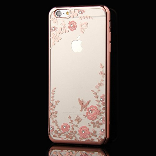 Wkae Case & Cover Pour iPhone 6 & 6s Fleurs Patterns Housse de protection TPU Electroplating souple ( SKU : IP6G1010F ) IP6G1010D