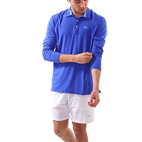 Sportkind Jungen & Herren Tennis/Golf/Sport Langarm Poloshirt, Kobaltblau, Gr. XL - Jungen Langarm-polo-shirt