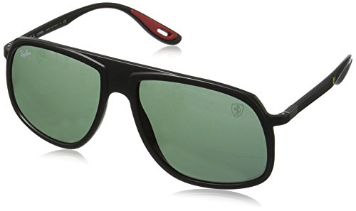 Ray-Ban Junior Herren 0RB4308M F60271 58 Sonnenbrille, Matte Black/Green,