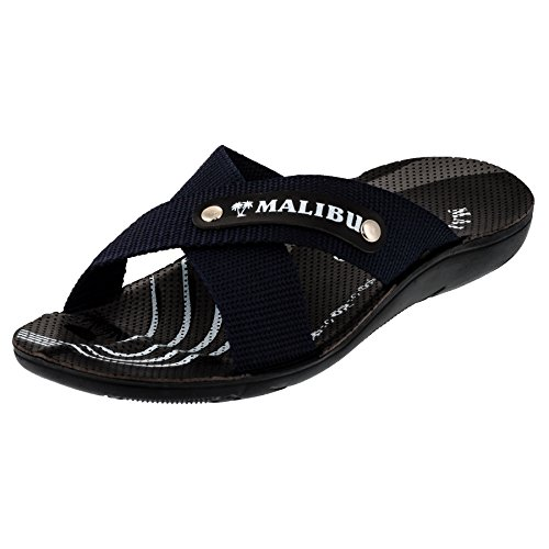 Herren Malibu Strandschuhe Sandalen Latschen in vielen Farben (42, #207bl Blau)