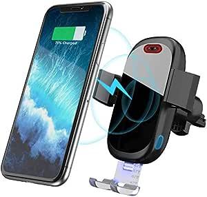 Wireless Charger Auto Qi Ladestation Auto Infrarot Induktion Kfz Handyhalter 7 5w 10w Fast Charging Für Iphone 11 Pro Max Xs Max Xr X 8 8plus Galaxy S9 S8 S7 S6 Note 5 8 9 Schwarz Elektronik