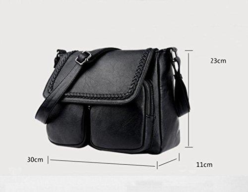 Kuriertasche Schultertasche Einfache Mode Mutter Tasche Freizeit Wilde Atmosphäre Elegant Black