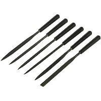 STANLEY 0-22-500 - Juego 6 de aguja (plana, media cana entrefina, triangular, plana punto delgada)