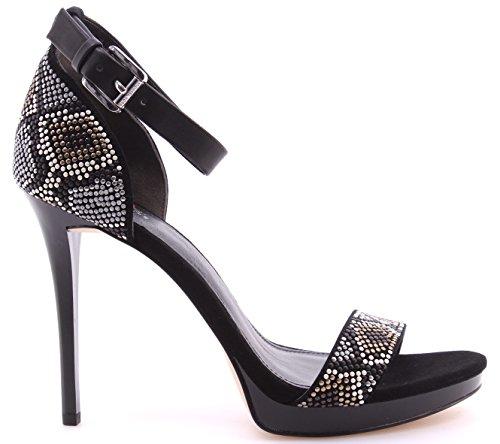 Michael Kors Zapatos Tacon Sandalia Mujeres Sienna Sandal Suede Grey Multi Dress