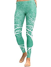 Pantalon Leggings imprimé, GreatestPAK Femme Yoga Fitness Leggings en Cours  d exécution Gym Stretch 681458b69271