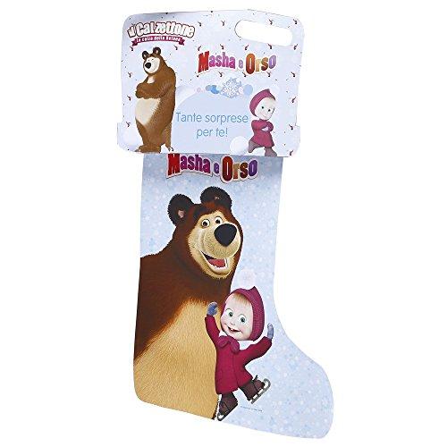 Giochi preziosi - calzettone masha e orso, l'originale calza della befana con sorprese