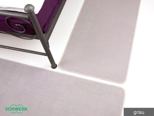 Bijou grau Vorwerk Bettumrandung 3 Teile 2x70x140 cm 1x70x340 cm