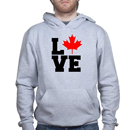 Customised Perfection Mens Love Canada Heart Maple Leaf Flag Kapuzenpullover