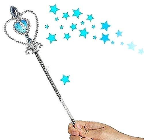 Magischer Schläger mit hellblauen Steinen und Herz mit Elsa Geschenkidee für Kinder