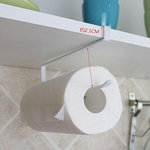 Papier Wand Halterung Handtuchhalter (soleditm Wand montiert Küche Schrank Handtuch Rack Rolle Papier Halterung Badezimmer Handtuchhalter Toilettenpapierhalter Rack Hand Suction Tissue Halter)