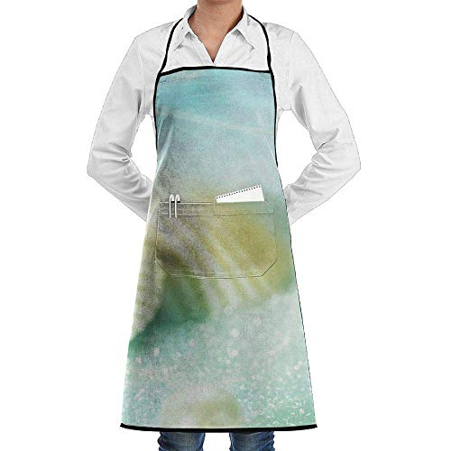 Drempad Premium Unisex Schürzen, Bib Apron Pockets White Pearl Shell Durable Cooking Kitchen Aprons for Men Women -