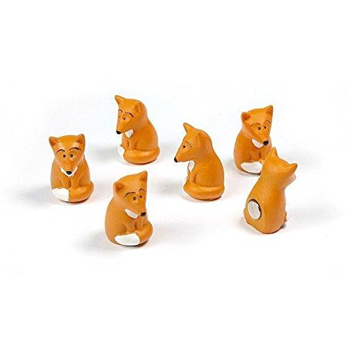 6 x Kühlschrankmagnete Fuchs 24x15x15mm Magnete für Pinnwand Magnettafel - Magnete für Kühlschrank, Magnetboard, Kinder Magnetwand, Tiermagnete