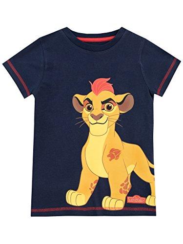 Disney Jungen Die Garde der Löwen T-Shirt Blau 128 (König Der Löwen T Shirt Kinder)