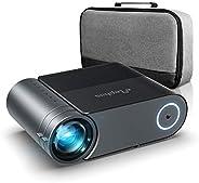 Proyector, Elephas Mini proyector Full HD 5500 Lumen , proyector portatil Cine en casa de 200 Pulgadas 1080P C
