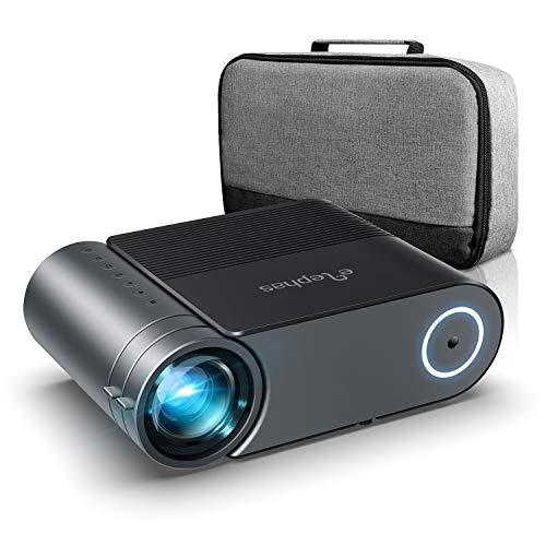 Vidéoprojecteur, ELEPHAS Videoprojecteur 4200 Lumens Mini Projecteur Vidéo Soutien 1080P Rétroprojecteur Full HD LED Portable Multimédia Home Cinéma Compatible VGA HDMI AV USB