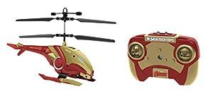 World Tech Toys-Heroes Marvel Iron Man Shaped 2ch IR helicóptero, 34890