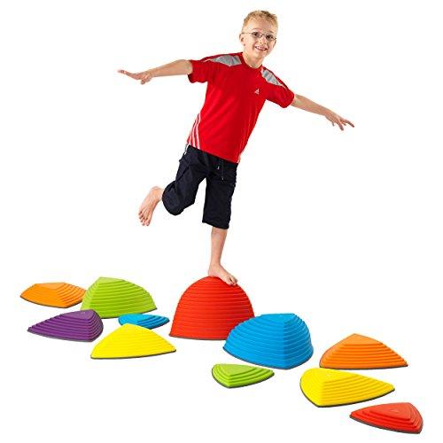 Hügelkuppen-Set, Balance Spiel, Balancierspiel, Kinder, Kindergarten, 11-tlg. (Kinder Balance)