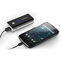 Sumvision PB206 4000mAH Fast Portable Heavy Duty Charger External Battery Power Bank Pack 5V 1A USB Port High Capacity Power Bank Charger for iPhone 6/5/5S/4S/3GS/3G, iPad Air/4/3/2; Samsung Galaxy S4, S3, S2, Galaxy Ace, Galaxy Tab, Galaxy Note 2