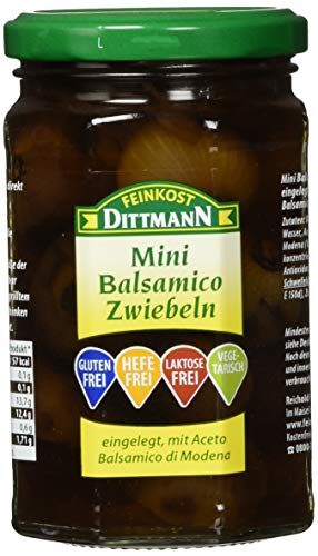 Feinkost Dittmann Mini-Balsamico Zwiebeln eingelegt in echtem Balsamico-Essig, 5er Pack (5 x 295 g)