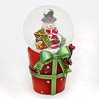 Bella e originale palla di vetro con neve. Disegno: Pupazzo di neve con regali, circa 8 x 5 cm/ Ø 4,5 cm