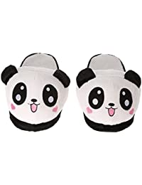 Anself Donna Inverno Caldo Pantofole Lovely Cute Panda Soft Plush Anti-skid Casa Cotone Slipper Shoes 25,5 cm/10 in