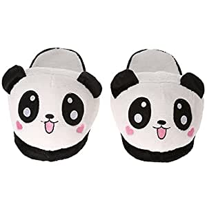 Anself Donna Inverno Caldo Pantofole Lovely Cute Panda Soft Plush Anti-Skid Casa Cotone Slipper Shoes 25,5 cm/10 in